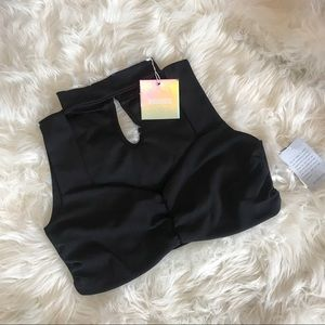 NWT Misguided Black Crop Top